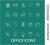 office  work outline icons ...