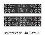 healthy food. hand sketched...   Shutterstock .eps vector #303359108