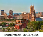 view of syracuse  new york in... | Shutterstock . vector #303376355