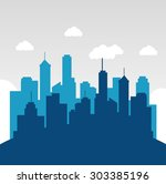 city urban design  vector... | Shutterstock .eps vector #303385196