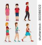 people digital design  vector... | Shutterstock .eps vector #303388322