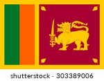 sri lanka flag vector | Shutterstock .eps vector #303389006