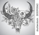 Decorative Indian Bull Skull I...