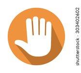 five fingers gesture | Shutterstock .eps vector #303402602