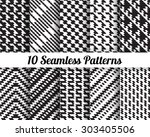 set of 10 abstract patterns.... | Shutterstock .eps vector #303405506