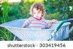 portrait of 1 year old baby boy ...   Shutterstock . vector #303419456