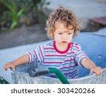 portrait of 1 year old baby boy ...   Shutterstock . vector #303420266