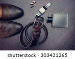 men's accessories   Shutterstock . vector #303421265