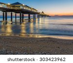 dawn at the pier of heringsdorf ... | Shutterstock . vector #303423962