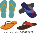 vector fashion casual sandals... | Shutterstock .eps vector #303429422