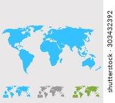 world map illustration  | Shutterstock .eps vector #303432392