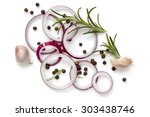 food background of onion rings  ... | Shutterstock . vector #303438746