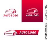 set of colorful auto service... | Shutterstock .eps vector #303438782