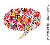 speech bubble speech balloons... | Shutterstock . vector #303442442
