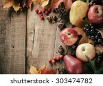 Peaceful Fall Fruit  Leaf ...