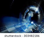 abstract blue background.... | Shutterstock . vector #303482186