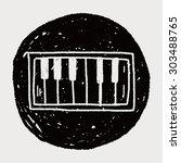 piano doodle | Shutterstock . vector #303488765
