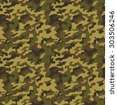 brown   green military... | Shutterstock .eps vector #303506246