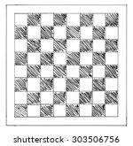 Hand Drawn Chessboard Isolated...