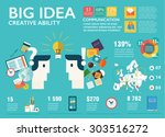 big infographics set in flat... | Shutterstock .eps vector #303516272