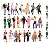 shopping people | Shutterstock . vector #30351805