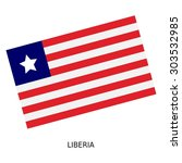 national flag of liberia | Shutterstock . vector #303532985