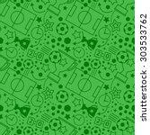 soccer seamless pattern. sport... | Shutterstock .eps vector #303533762