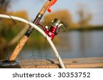 a fishing reel and a silicon... | Shutterstock . vector #30353752