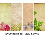 lovely banners with floral... | Shutterstock . vector #30353941