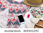 summer women's clothes | Shutterstock . vector #303541292