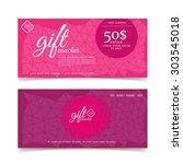 gift voucher colorful | Shutterstock .eps vector #303545018