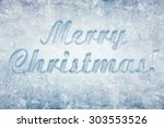 christmas card with snowy... | Shutterstock . vector #303553526