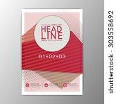 modern design template  flyer ... | Shutterstock .eps vector #303558692