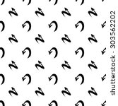 seamless pattern with arrows.... | Shutterstock .eps vector #303562202