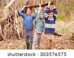 Children Building Camp In...