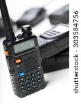 portable walkie talkie | Shutterstock . vector #303584756