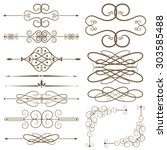 set page dividers. antique... | Shutterstock .eps vector #303585488