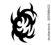 tribal tattoo vector design...   Shutterstock .eps vector #303588422