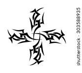 tribal tattoo vector design...   Shutterstock .eps vector #303588935