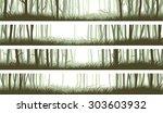 set horizontal banners misty... | Shutterstock .eps vector #303603932