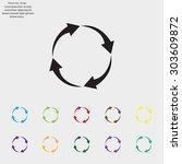 arrow circle icon   cycle  loop ... | Shutterstock .eps vector #303609872