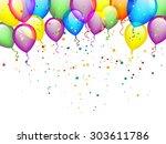 birthday balloons | Shutterstock .eps vector #303611786