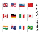world flags. vector set. | Shutterstock .eps vector #303620162