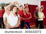 group of adult american people... | Shutterstock . vector #303632072