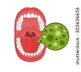 human oral cavity illustration... | Shutterstock .eps vector #303636656