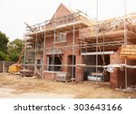 building site with house under... | Shutterstock . vector #303643166