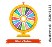 wheel of fortune with number... | Shutterstock .eps vector #303648185