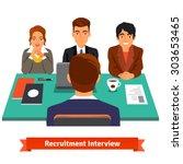 man having a job interview with ...   Shutterstock .eps vector #303653465