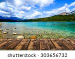 Mountains And Lake In Jasper ...