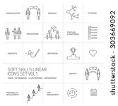 soft skills vector linear icons ... | Shutterstock .eps vector #303669092